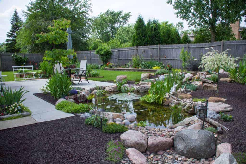 pond waterfall landscape design