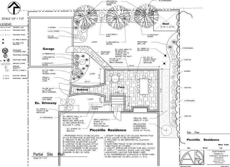 landscape design sketch drawing