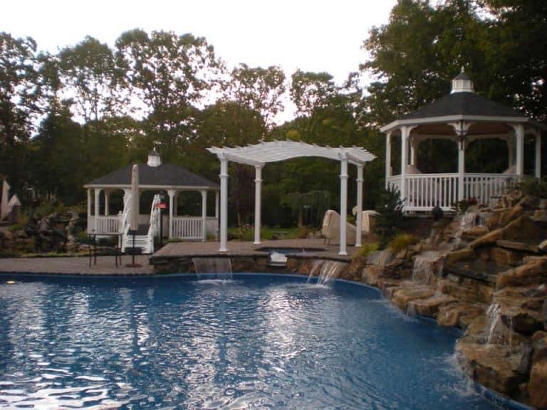 poolside gazebo design